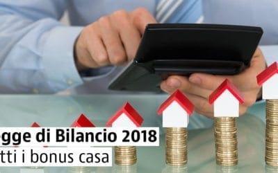 Finanziaria 2018: le detrazioni per la casa